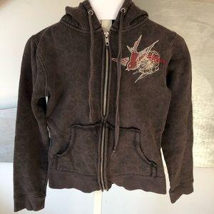 Gray Billabong hoodie with bird design